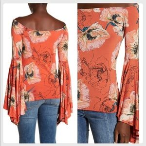Free People Off-the-Shoulder Bell Sleeve Top